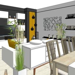 Espace salon et salle à manger à Meudon